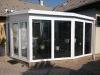 Télikert alumínium üveg tetővel