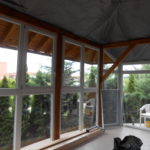 télikert, terasz beépítése