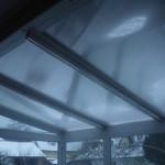 Télikert tető alumínium merevítéssel
